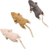 Ethical Cat - Flat Mouse W/Catnip Cat Toy - Assorted - 5.5In