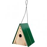 Audubon/Woodlink - Lake & Cabin Wren House With Green Metal Roof - Green