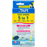 Aquarium Pharmaceuticals - 5 In 1 Test Strips - 25 Count