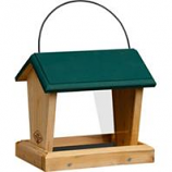 Welliver Outdoors - Hopper Feeder Cedar-Natural/Green-10X7X9.25