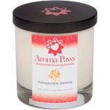 Aroma Paws - Honeysuckle Jasmine - Glass Candle In Box - 8 oz