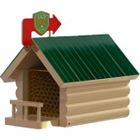 Audubon/Woodlink - Mason Bee Shelter W/Bee Lodge Retro Sign - Green