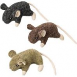 Ethical Cat - Wool Mouse W/Catnip Cat Toy - Assorted - 3.5In