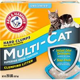 Church & Dwight - Arm & Hammer Multi - Cat Clumping Litter - Unscented - 20 Pound