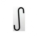 Hookery - S Hook - Black - 6 Inch