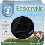 The Company Of Animals - Baskerville Ultra Moldable Muzzle - Black - Size 3
