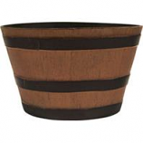Southern Patio - Hdr Whiskey Barrel Planter - Natural Oak - 22.5 Inch