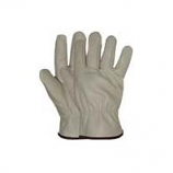 Boss Manufacturing -Quality Grade Grain Cowhide Leather Driver Glove-Natural-Medium