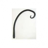 Hookery - Curved Hanger Downturn Hook - Black - 8 Inch