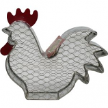 Audubon/Woodlink - Rustic Farmhouse Rooster Wire Peanut Feeder - Galvanized
