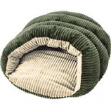 Ethical Fashion-Seasonal - Sleep Zone Corduroy Cuddle Cave-Green-22 Inch