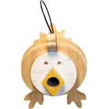 Welliver Outdoors - Welliver Stacks Chicken Bird House-White & Natural