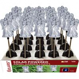 Alpine Corporation - Solar Angel Garden Stake with Blue Led Light - 35 Inch
