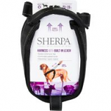 Quaker Pet Group - Sherpa Dog Harness With Built In Leash - Black - Medium