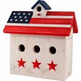 Audubon/Woodlink - Patriotic 3-Perch Wren House - Red/White/Blue