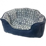 Ethical Fashion-Seasonal - Sleep Zone Bones Scallop Shape Bed-Gunmetal-21 Inch