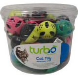 Coastal Pet Products - Turbo Plastic Balls Cat Toy Canister - Multi - 36 Piece