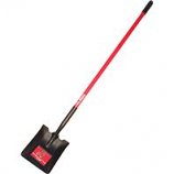 Bully Tool  - Long Handle Square Point Shovel Fiberglass Handle