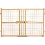 Midwest Homes For Pets - Wood/Wire Mesh Pet Gate - Natural - 24 H X 29 - 41.5
