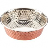 Ethical Ss Dishes - Honeycomb Non Skid Stainless Steel Dish - Copper - 1 Quart