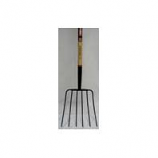 Truper Tools  - Tru Pro 6 Tine Manure Fork Long Handle - Steel/Wood - 54 Inch