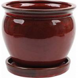 Southern Patio - Clayworks Wisteria Planter - Red - 8 Inch