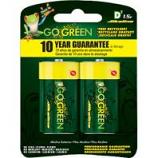 Gogreen Power - Alkaline Battery - D/2 Pack