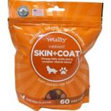 Tevra Brands - Vetality Skin & Coat Soft Chews For Dogs - Chicken - 60 Ct