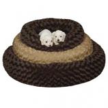 Slumber Pet - Sp Swirl Plush Donut Bed 32 Inch Oatmeal - Large - Oatmeal