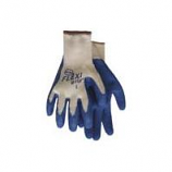 Boss Manufacturing -Flexigrip Latex Palm String Knit Glove-Blue-Extra Large