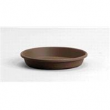 Myers Industries - Classic Pot Saucer - Chocolate - 10 Inch