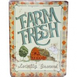 My Favorite Chicken - Farm Fresh Locally Grown Metal Sign - 12X16