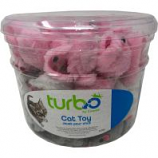 Coastal Pet Products - Turbo Furry Mice Cat Toy Canister - Multi - 90 Piece