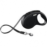 Flexi North America - New Classic Small Tape Retractable Leash-Black-16 Ft