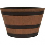 Southern Patio - Hdr Whiskey Barrel Planter - Natural Oak - 15.5 Inch