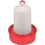 Miller Mfg - Poultry Waterer Deep - Red - 3 Gallon