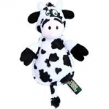 Quaker Pet Group - Hear Doggy Flattie Cow With Chew Guard - White - Mini