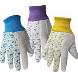 Boss Manufacturing -Boss Just For Kids Jersey Glove-Floral Assorted-Ages 5 - 8