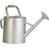Panacea  - Vintage Galvanized Watering Can With Wood Handle-Galvanized-2 Gallon