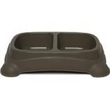 Gardner Pet Group - Double Diner Dish - Taupe Gray - Large 4 Cups