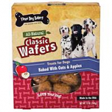 Three Dog Bakery - Classic Wafers-Oatmeal & Apple-13 Oz