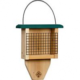 Welliver Outdoors - Paddle Suet Feeder Cedar-Natural/Green-2.75X9X11