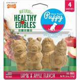 Tfh Publications/Nylabone - Healthy Edibles Puppy Pals Variety Chew Treat - Lamb & Apple - 4 Pack
