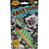 Fuzzu - Gator & Pizza Fast Food Catnip Cat Toy - Green - Small