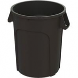Hamburg/Nexstep Comm Prod - Maxi - Rough Trash Container - Black - 44 Gallon