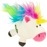 Quaker Pet Group - Godog Unicorns Just For Me Durable Plush Dog Toy - White - Mini