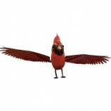 Esschert Design Usa - Metal Cardinal Rocker - Large