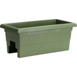 Novelty Mfg - Countryside Over The Rail Planter - Sage - 24 Inch