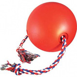 Ethical Dog - Tuggo Ball With Rope - Red - 10 Inch