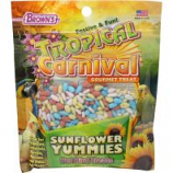 F.M. Browns - Pet - Tropical Carnival Sunflower Yummies Bird Treat - Sunflower - 3.5 Oz